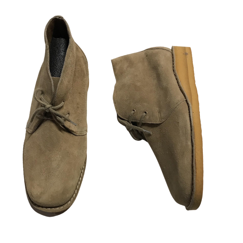 1960s – 70s Men's Ties | Skinny Ties, Slim Ties 1960S Dessert Boots Shoes60S Mod Nos Beige Suede Lace Up Unworn Mens 6 $36.00 AT vintagedancer.com