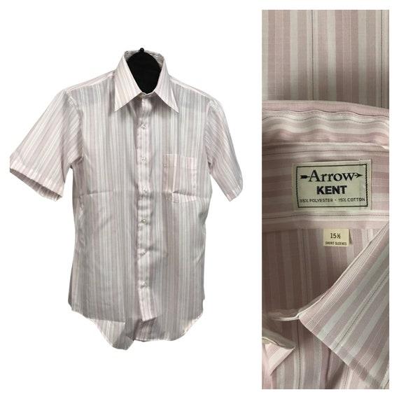 1960s Button Down Shirt / NOS Stripe Short Sleeve