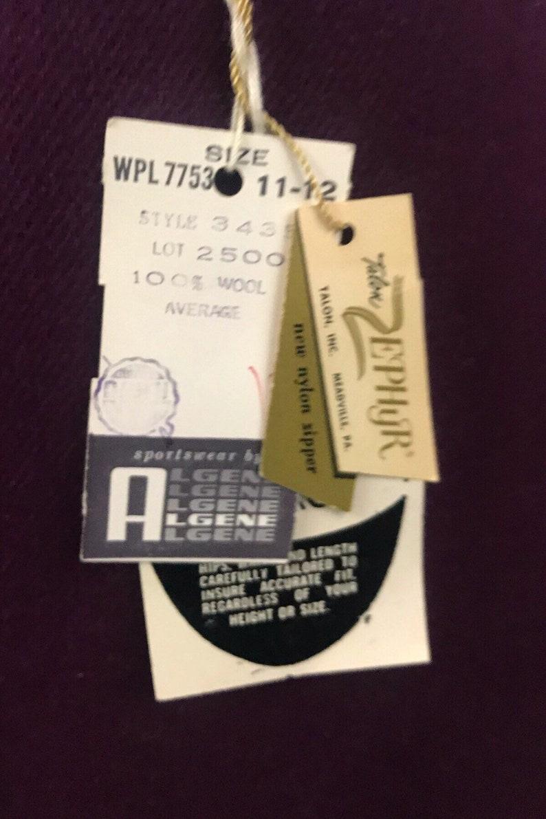 1950s Wool Skirt  Unworn Deadstock Eggplant Wool Pencil Skirt  Women\u2019s XS