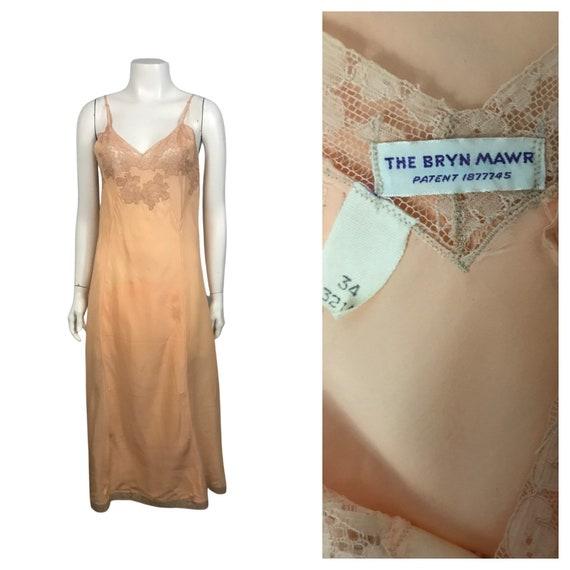 1930s Lingerie Slip / 30s NOS Pink Crepe Sleeveles