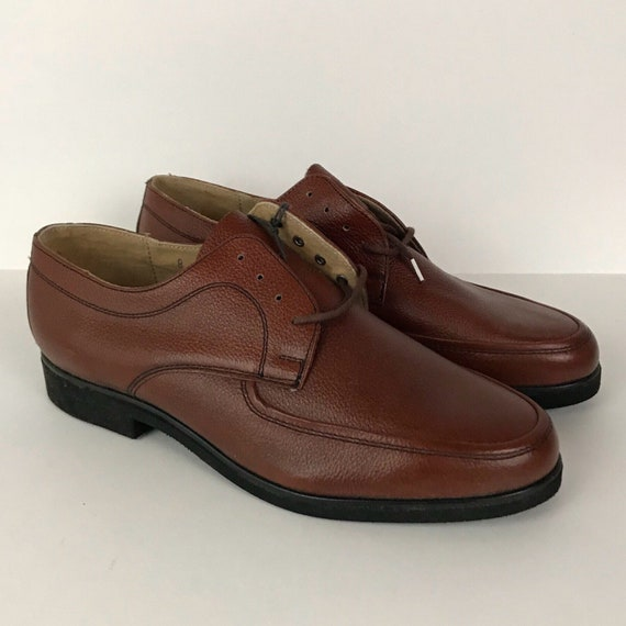 Vintage NOS 1970s 1980s Brown Cordovan Pebble Grai
