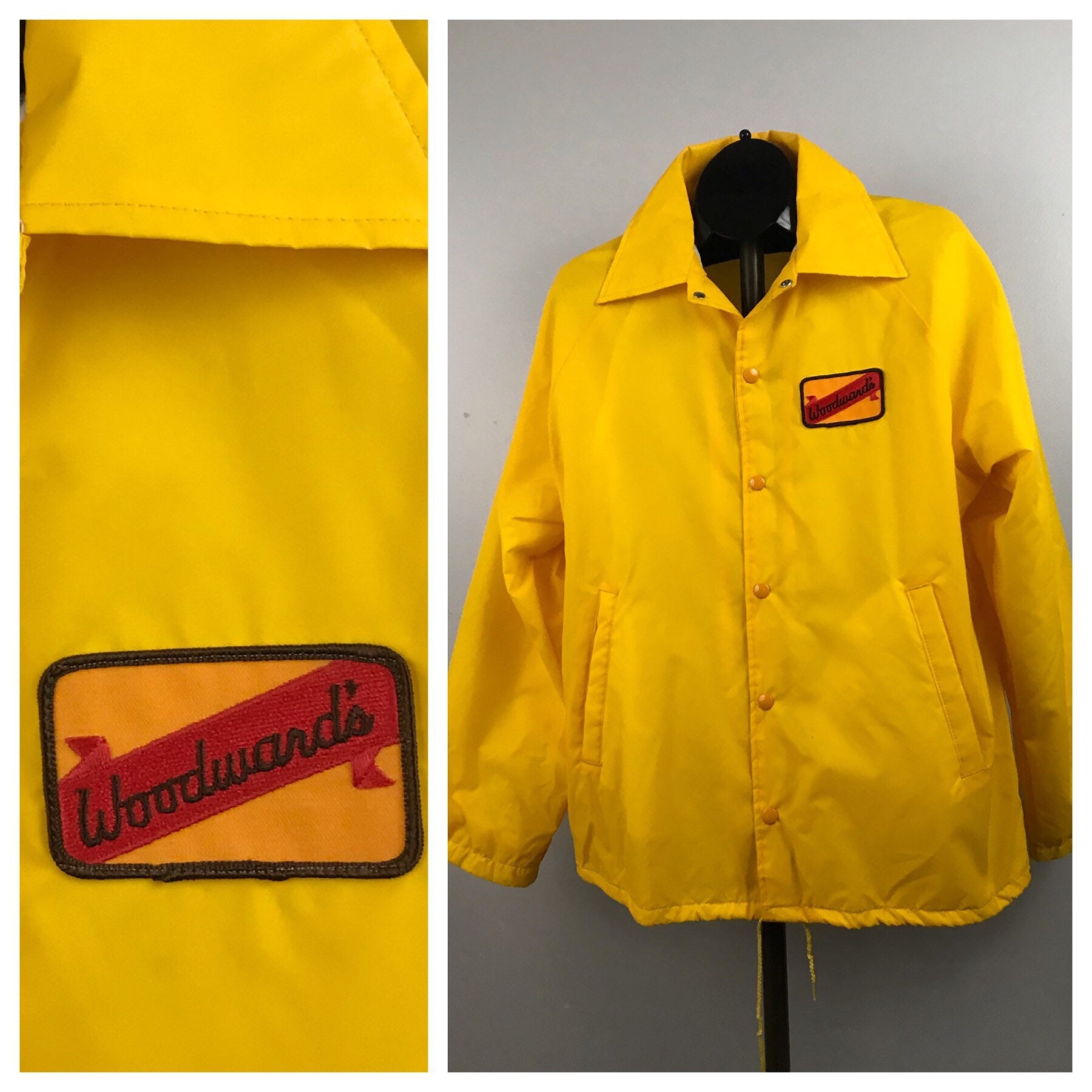1960s – 70s Men's Ties | Skinny Ties, Slim Ties 1960S Windbreaker Jacket CoatBright Yellow Button Up Coaches Lined Mens Large $22.50 AT vintagedancer.com