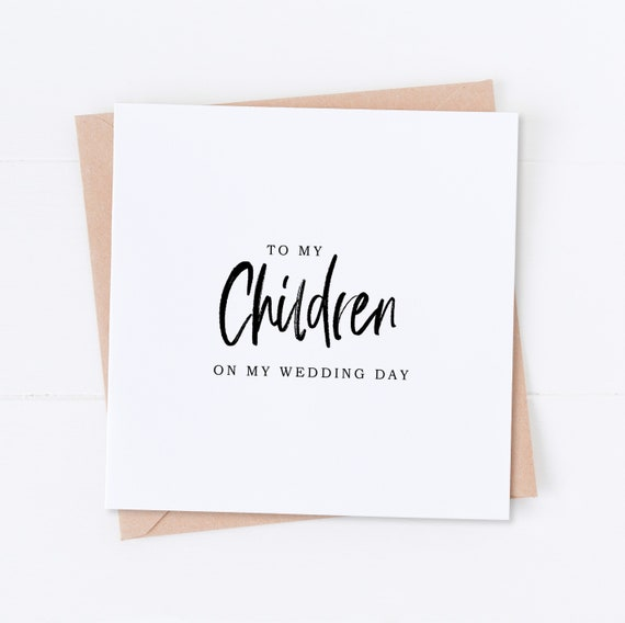 Children On My Wedding Day Daughter Thank You To my Children card On the day card Wedding Thank You Son Thank You Wedding Card