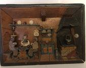 Vintage Wooden Diorama 3D Shadow Box