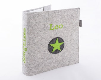 Certificate folder with wool felt cover