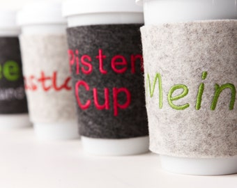 """Felt Cup """"To Go"""" Personalized"""