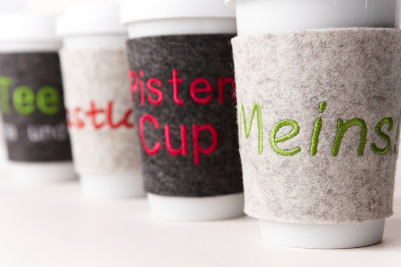 Felt Cup To Go Personalized image 0