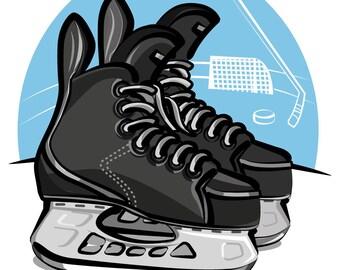 Eishockey Wandtattoo Etsy