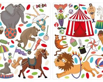 Wandtattoo Kinderzimmer Zirkus Etsy