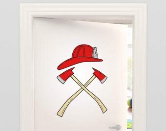 Wandtattoo Feuerwehr Etsy