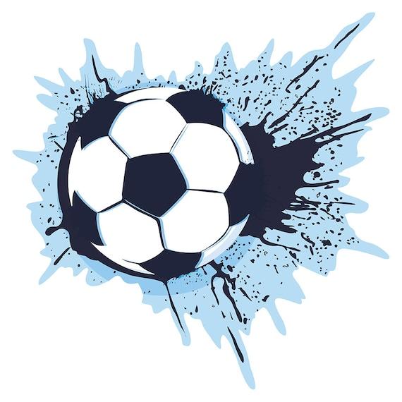 Wandtattoo Kinderzimmer Fussball Farbkleckse Blau Wandsticker Fussball Kinderzimmer Deko
