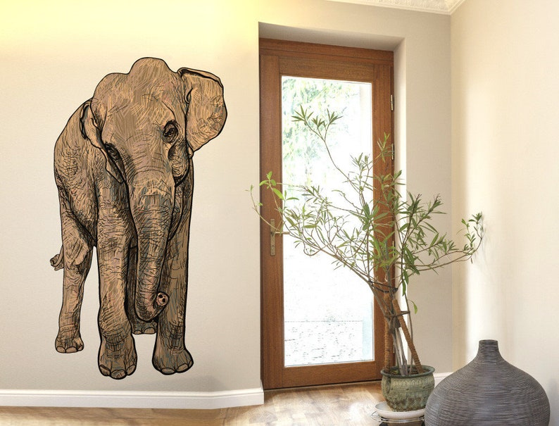 Wall tattoo animals  elephant with great design  etsy