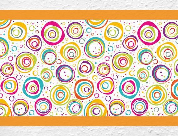 Bord/üre Borte Farbige Kreise K/üche Kinder selbstklebend Deko Wanddeko