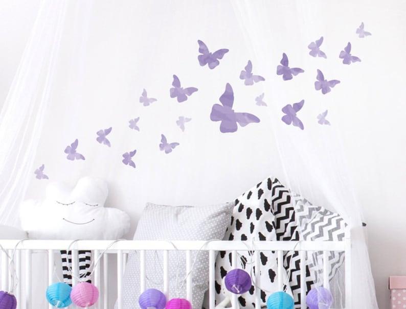 Wandtattoo Kinderzimmer Schmetterlinge Aquarell | Etsy