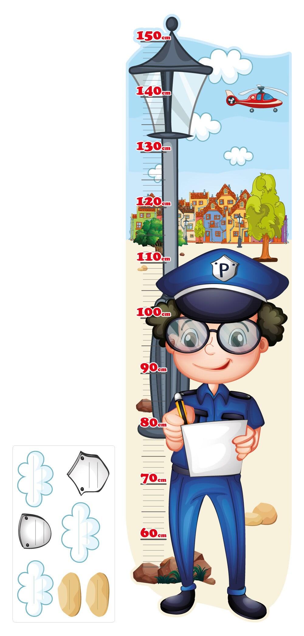 Wandtattoo Kinderzimmer Messlatte Polizei, Messlatte Kinderzimmer,  Messlatte Kinder