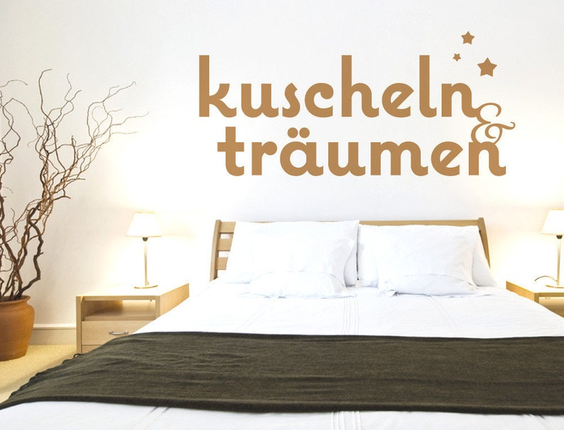 Wandtattoo Schlafzimmer Sprüche \'\'Kuscheln und | Etsy