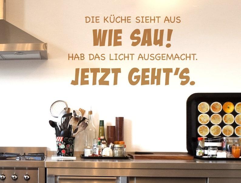 Wandtattoo Küchen Sprüche \'\'Küche sieht aus wie   Etsy