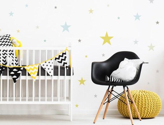 Wandtattoo Kinderzimmer Sterne Pastell stilvoll | Etsy