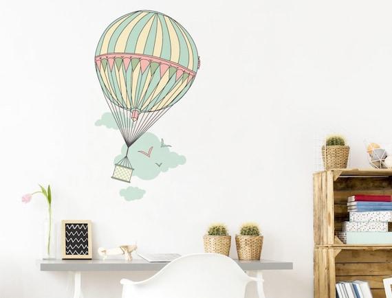 Wandtattoo Babyzimmer Heissluftballon Mit Etsy