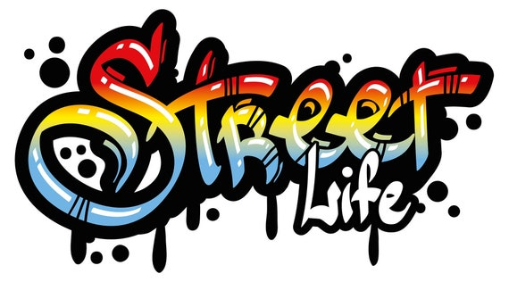 Wandtattoo Jugendzimmer Graffiti Street Life Schriftzug Etsy