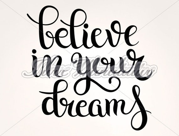 Wall Decals English Sayings Believe Your Dreams Etsy