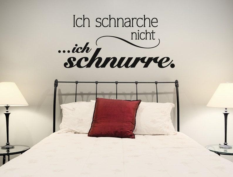 Wandtattoo Schlafzimmer Sprüche \'\'Schnarchen und | Etsy