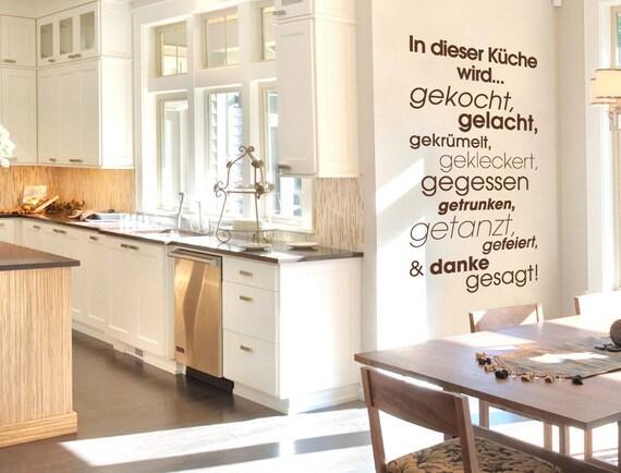 Wandtattoo Küchen Sprüche \'\'In dieser Küche | Etsy