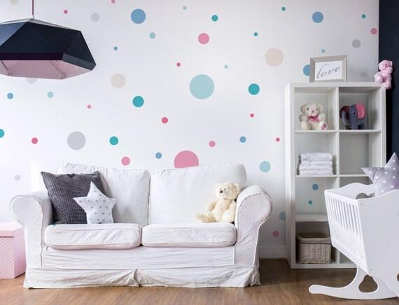 Kinderzimmer Wandtattoo Kreise Pastell Bunt Etsy
