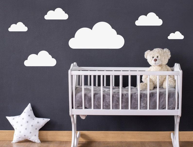 Wandtattoo Weiße Wolken Kinderzimmer Deko Junge   Etsy
