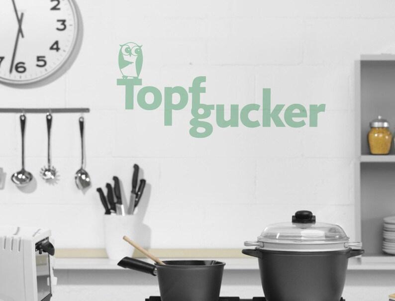 Wandtattoo Sprüche Küche \'\'Topfgucker\'\' | Etsy