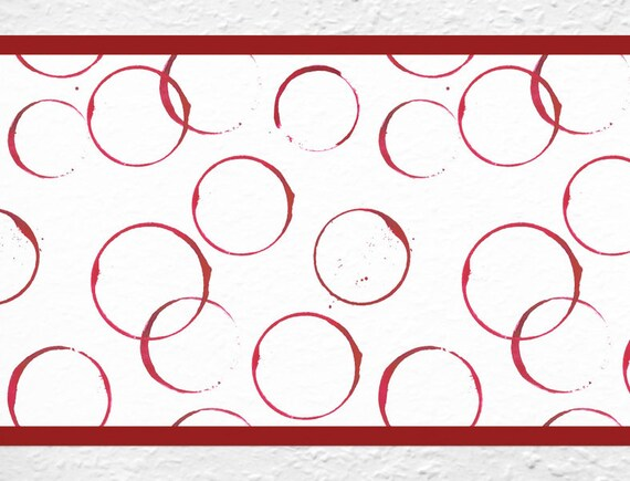 striped circle wand aufkleber