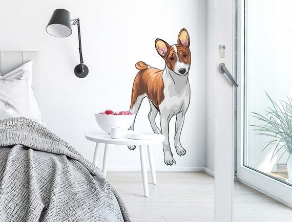 Wandtattoo Tiere Hund Mit Weiss Braunem Fell Etsy