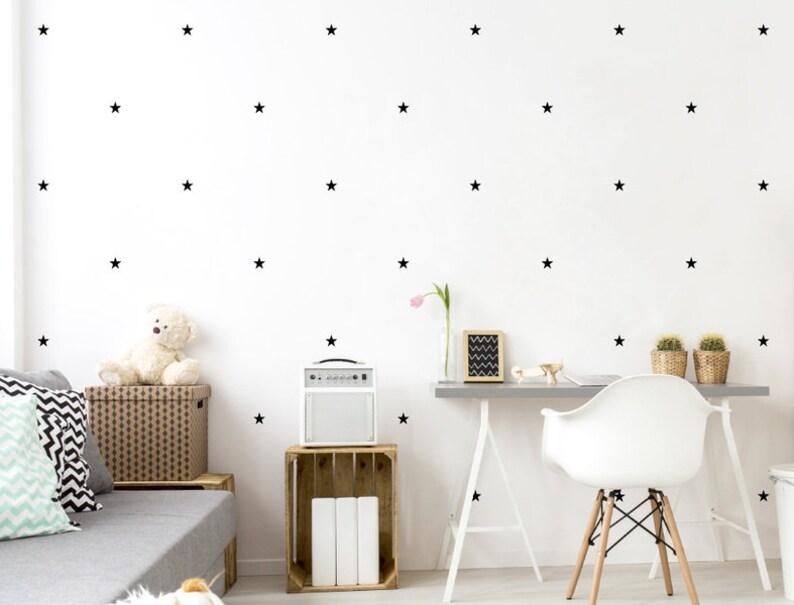 Wandtattoo Kinderzimmer Sterne schwarz Wandsticker Deko | Etsy