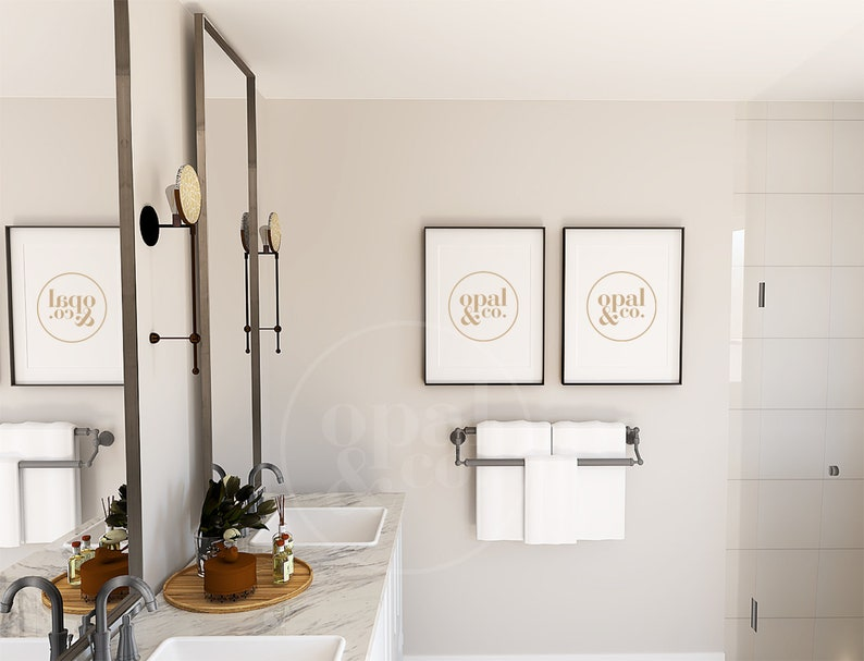 Picture Frame Mockup Mockups Bathroom Frame Mockup Black Frame Mockup Mock Up Contemporary Mockup Farmhouse Mockup Bathroom Mockup