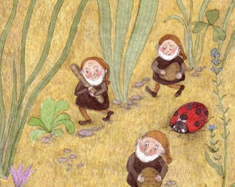 "Postcard ""The Dwarfs have baked bread"""