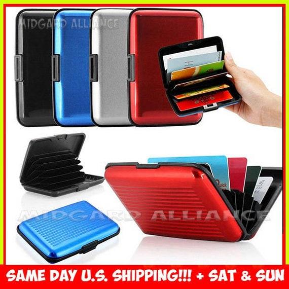Waterproof Anti-magnetic Metal ID Credit Card Wallet Holder Purse Pocket Case