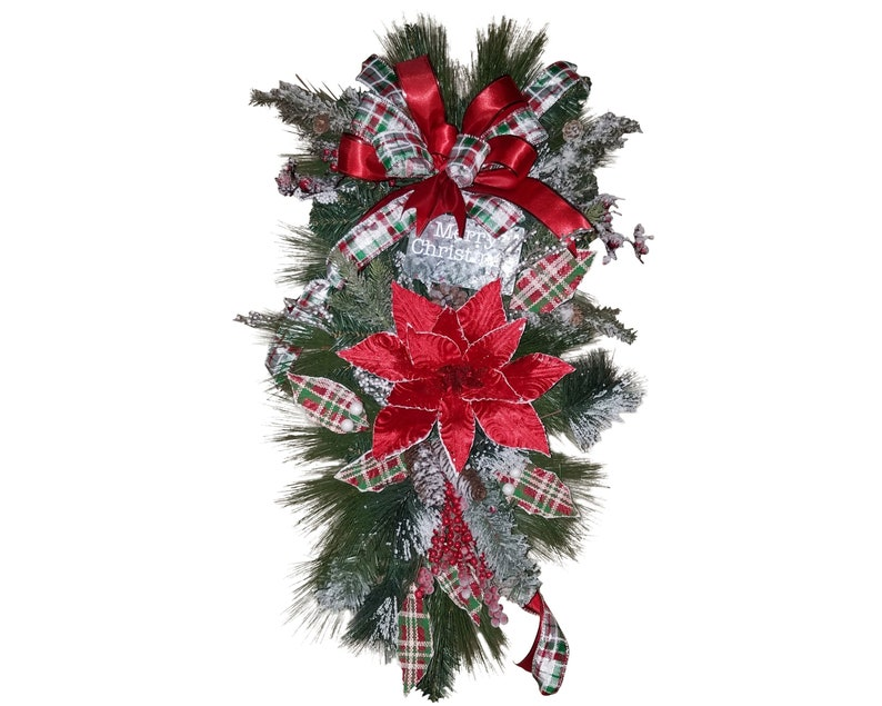 Swag Christmas Swag Christmas Poinsettia Swag