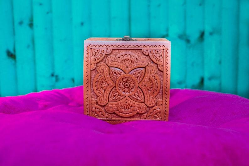 Wooden Carved Personalized Box \u2022 Custom Jewelry Organizer \u2022 Woody  Ring Chest \u2022  Vintage woman Gift \u2022 Wood Wedding crate \u2022 4.5x4.5x3.5 \u2022