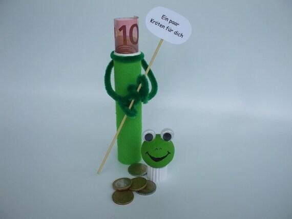 Geld Krote Geldgeschenk Frosch Etsy