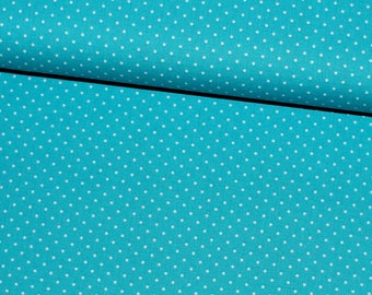 Small dots-turquoise/white cotton