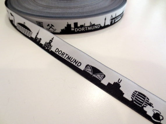 1,45 EUR / / / 1 m 10 m DORTMUND noir - bande Web skyline bce8c0