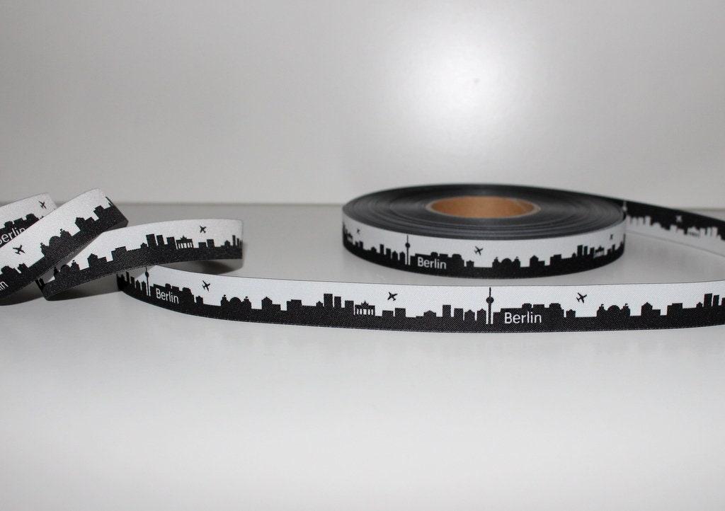 1,45 EUR / 1 m 10 m m 10 BERLIN noir - bande Web skyline 4fc8b4
