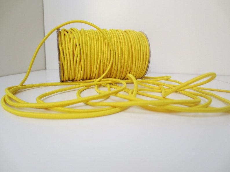 0.39 EUR1 m 3 m rubber cord 3 mm-GELB 110