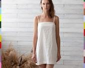 100 pure linen (Italy). Linen dress. Flax dress. Linen tunic. Italian linen.