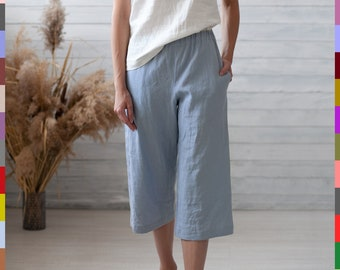 f5c9ae3f74 Linen pants. Flax pants. Linen capris. Italian linen.