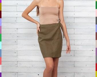 Bronze Embossed Leather Pencil Skirt  Size Medium 28 waist