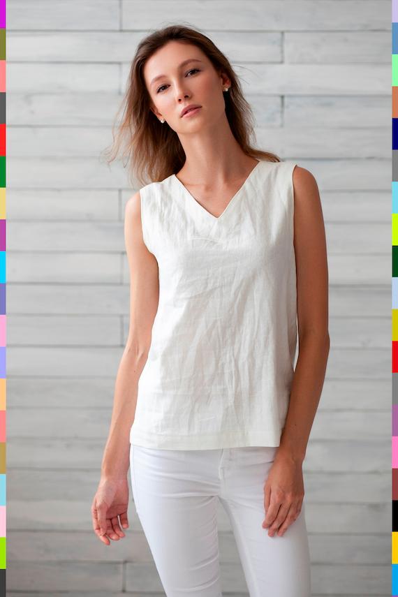 fe43b250e267 100% pure linen Italy. Linen top. Flax top. Linen t-shirt. | Etsy