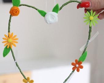 Flower heart very delicate