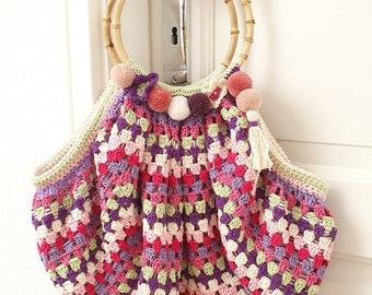 Boho crochet bag in Granny Square style