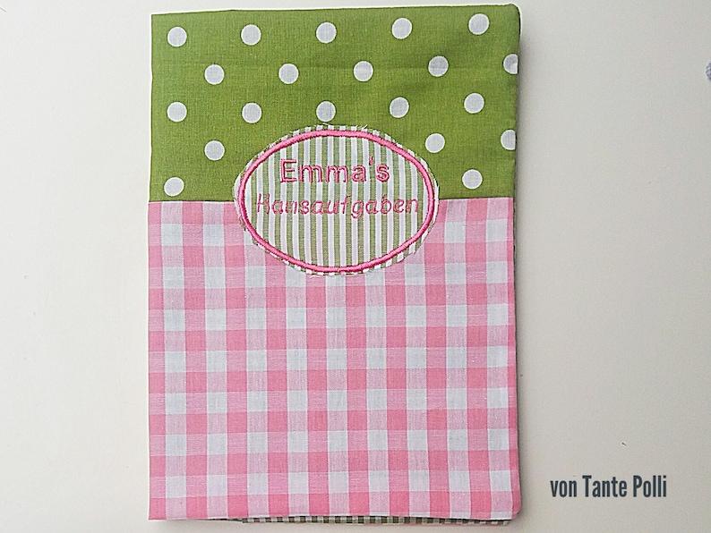 Haus Aufgabenheft Envelope Din A5 Green Pink Etsy